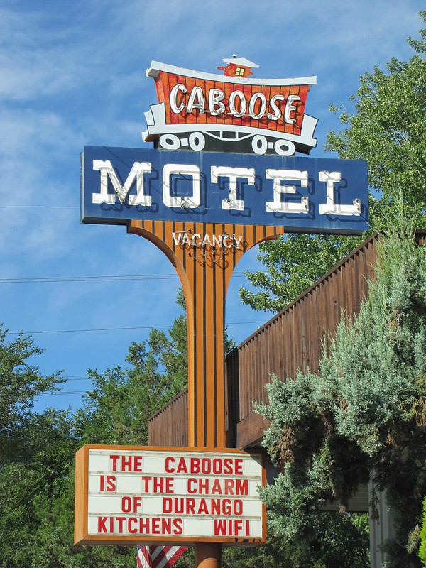 Caboose Motel - 3363 Main Avenue, Durango, Colorado U.S.A. - July 26, 2012