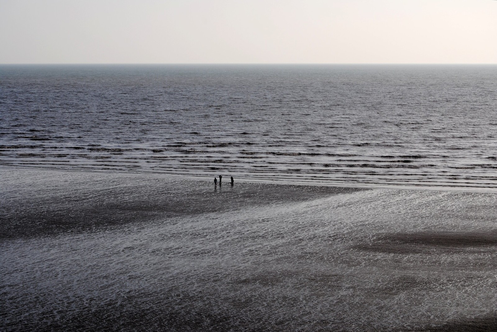 A view of the sea at Pendine Sands.