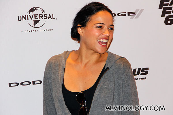 Michelle Rodriguez laughing