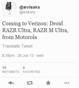 Motorola Droid RAZR Ultra и RAZR M Ultra