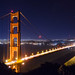 Golden Gate after dark