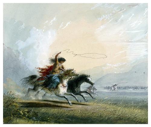 012-Capturando un caballo-Alfred Jacob Miller-1858-1860-Walters Art Museum