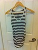 Old Navy Maternity, 58/38/4 cotton/poly/spandex, grey and white stripes, size M -- $5
