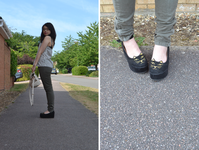 Daisybutter - UK Style and Fashion Blog: what i wore, charlotte olympia, rag & bone jeans