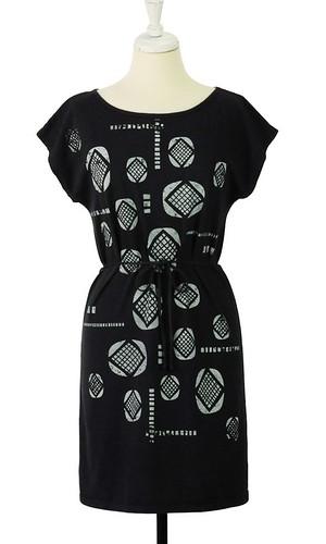 lozenge-black-dress
