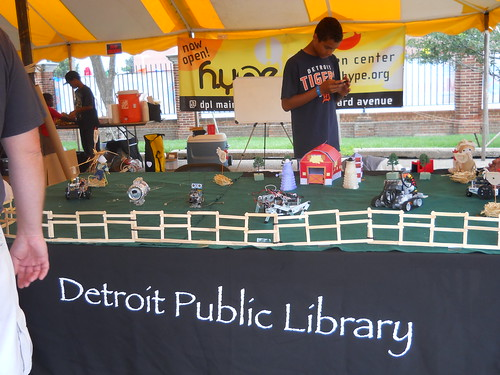 Robot petting zoo from DPL