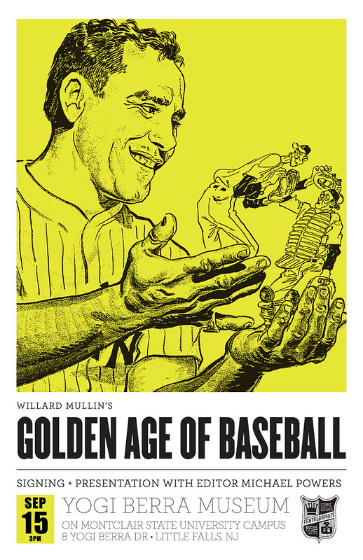 Willard Mullin's Golden Age of Baseball Drawings at the Yogi Berra Museum!