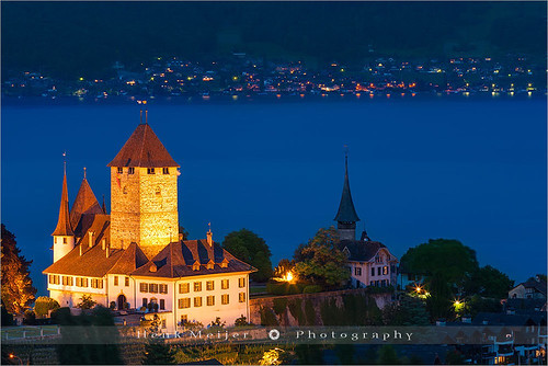 longexposure blue sunset lake holiday snow alps tower castle water horizontal canon landscape lights switzerland evening landscapes town mood dusk swiss smooth atmosphere peak romance le romantic thun bern bluehour peaks thunersee switserland spiez berneseoberland aftersunset lakethun kantonbern floydian holidaydestination canoneos1dsmarkiii henkmeijer