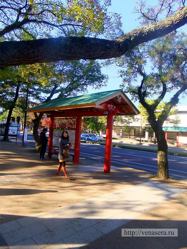 Автобусная остановка в Нара
