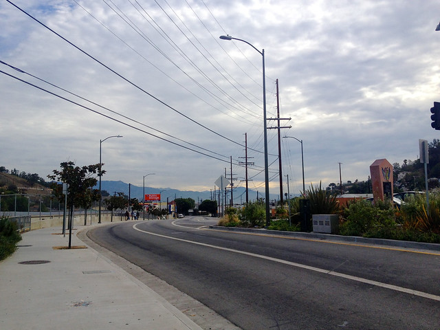 Looking back towards El Sereno