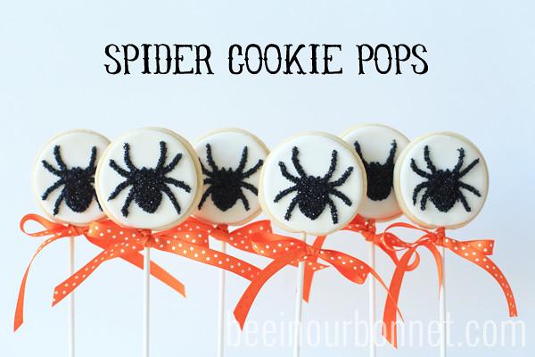 spider cookie pops