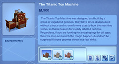 The Titanic Toy Machine