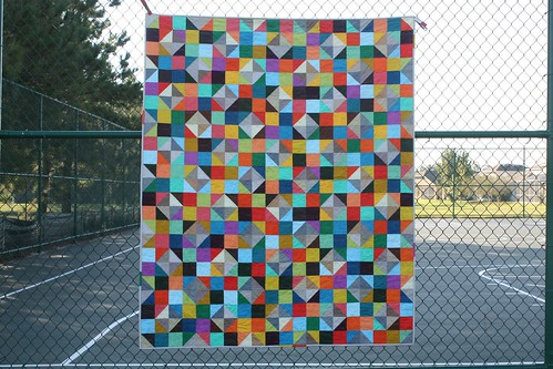 Sparkling Diamonds quilt in DS Solids