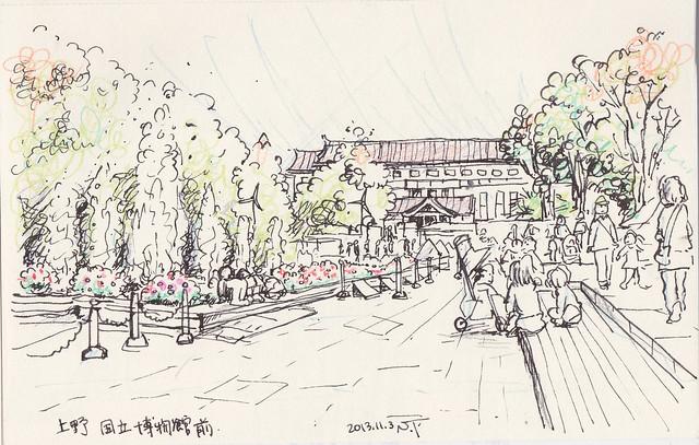 上野 国立博物館前-2