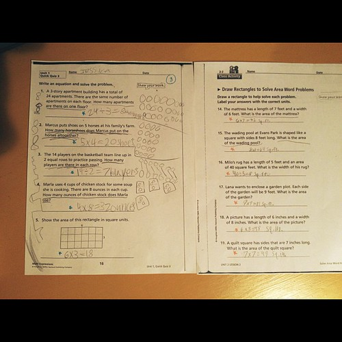 """A comparison: on the left is an assignment of Jessica's while on gluten. This assignment was a huge improvement in neatness and focus ability, this was a """"win"""" for her at conferences. On the right is Jessica's penmanship and work off gluten. Maybe it's ju"""