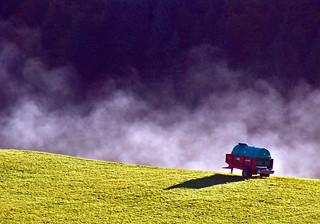 13 2801 - Doubs, Petite Chaux, brume matinale