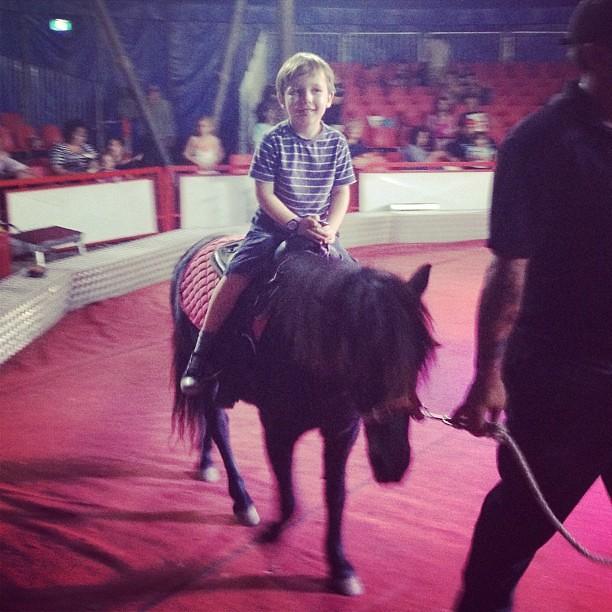 First trip to the circus! #lovingit #earlybirthdaypresent #fouryearoldsaresomuchfun