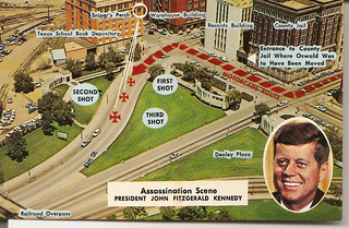Dallas Postcard: Map of JFK