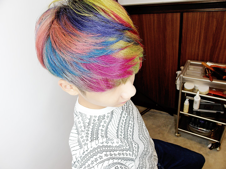typicalben hair rainbow