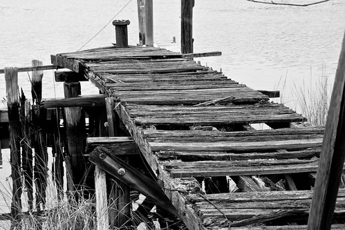 Rotting Dock #1 BW by Macedo295