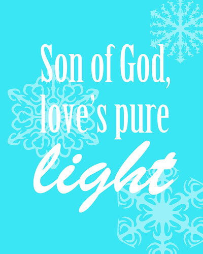 Son of God Love's Pure Light Free Christmas Printable