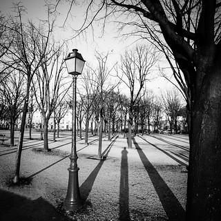 Lamppost and shadows in Paris, par Franck Vervial