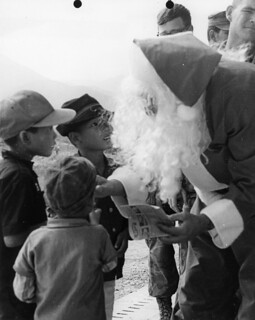 Santa Visits An Hoa Children's Hospital, Vietnam, 24 December 1969