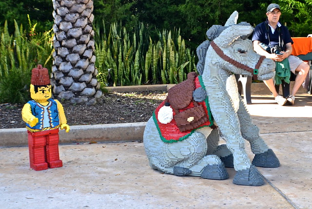 Legoland, Florida - Arab and his donkey - legoland art