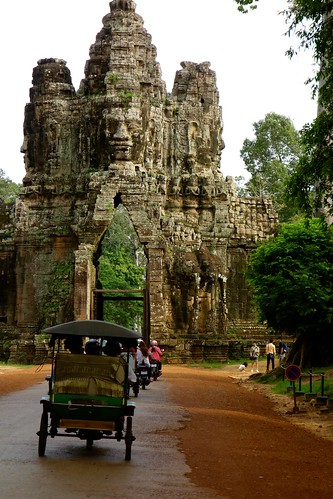 One of the 5 main gates of Angkor Thom