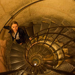 Down the stairs at Arc de Triomphe