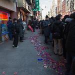 Sidewalk confetti