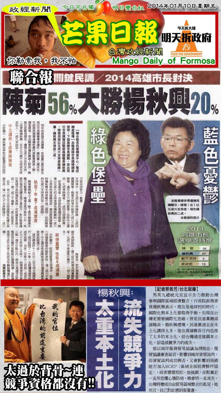 140110芒果日報--政經新聞--楊秋興背骨到底,竟說本土失競爭
