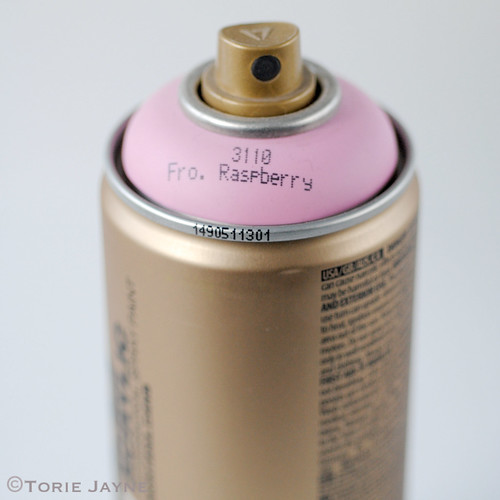 Frozen Raspberry spray paint
