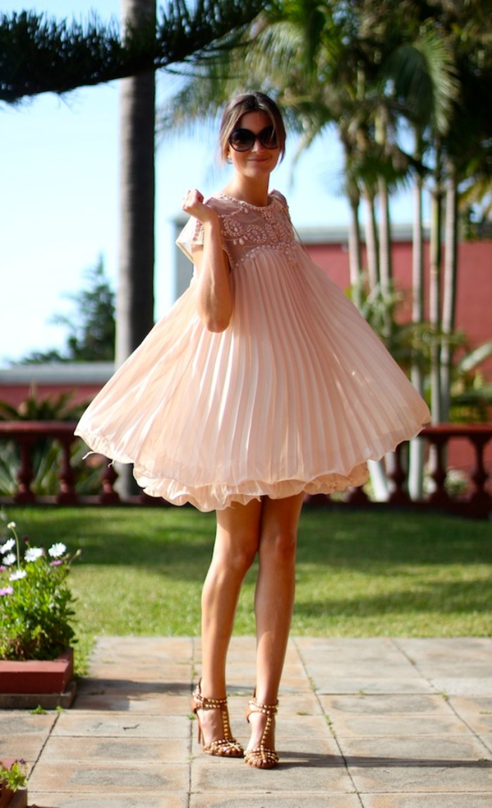 vestido rosa sheinside