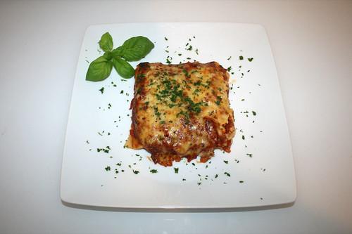 42 - Cannelloni di salsiccia arrosto - Serviert / Served