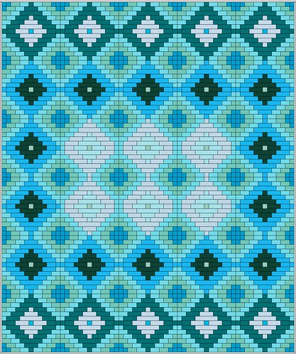 Grecian Waters Ikat