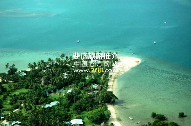 鸟瞰斐济努库巴蒂全包度假酒店(Nukubati Island Resort)