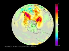Temperature Anomaly corresponding to January 2014 Polar Vortex Activity