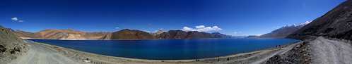 Pangong Tso Panorama by saish746
