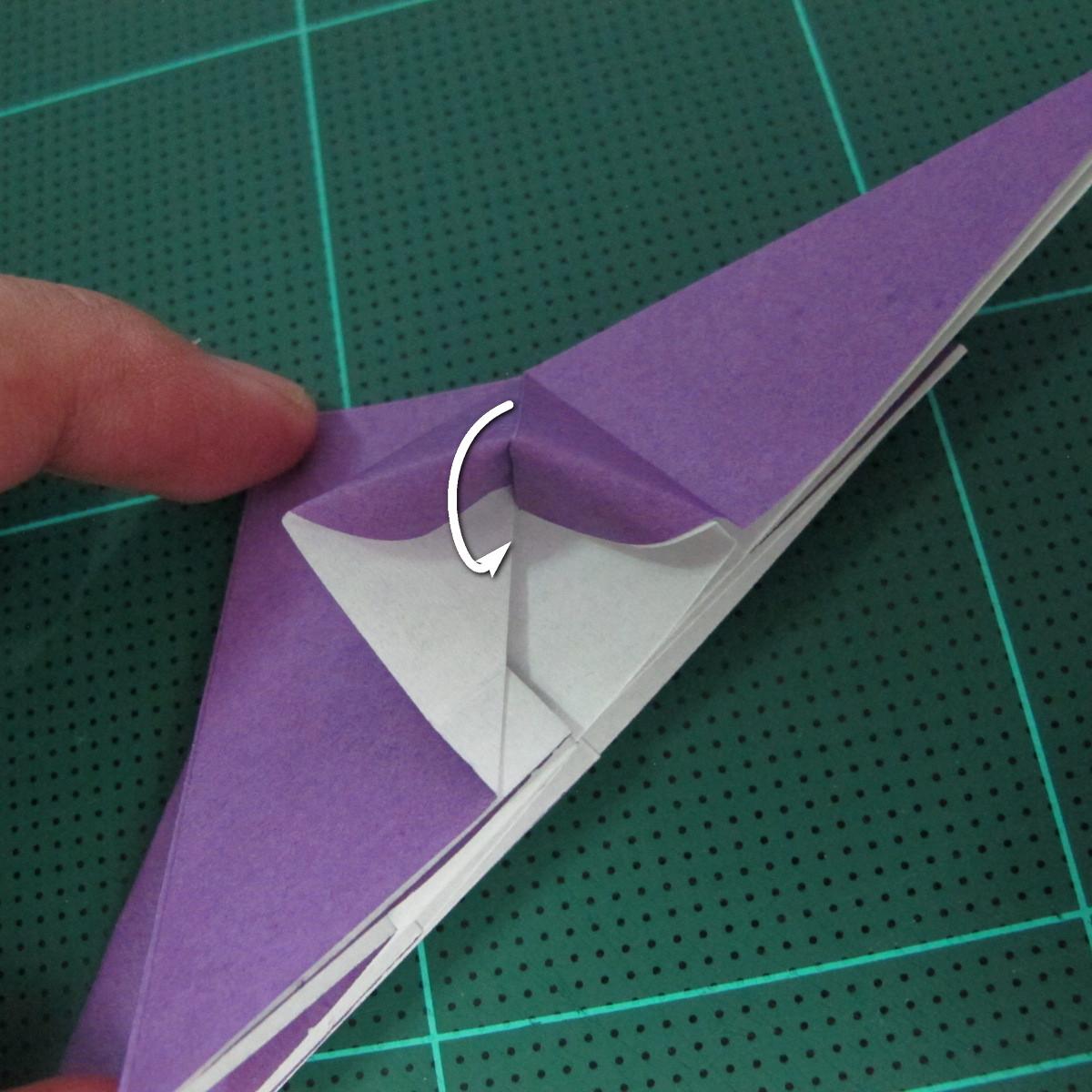 วิธีพับกระดาษเป็นรูปนกอินทรี (Origami Eagle) 007