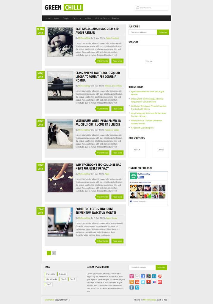 Green Chili WordPress Theme