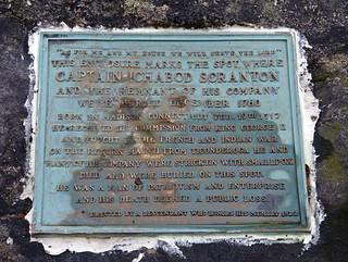 Captain Ichabod Scranton memorial plague at Pock Lot (b)
