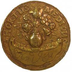 1684 Hortus Medicus token obverse