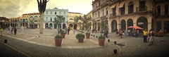 Panorama of Plaza Vieja .. Havana