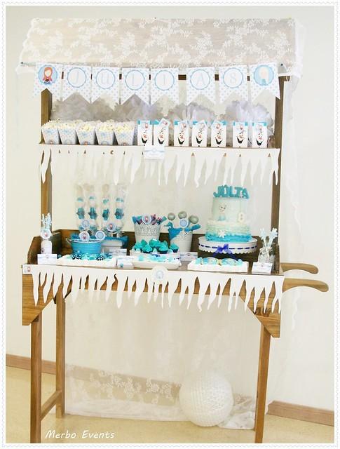 carrito de dulces para  cumpleaños Frozen