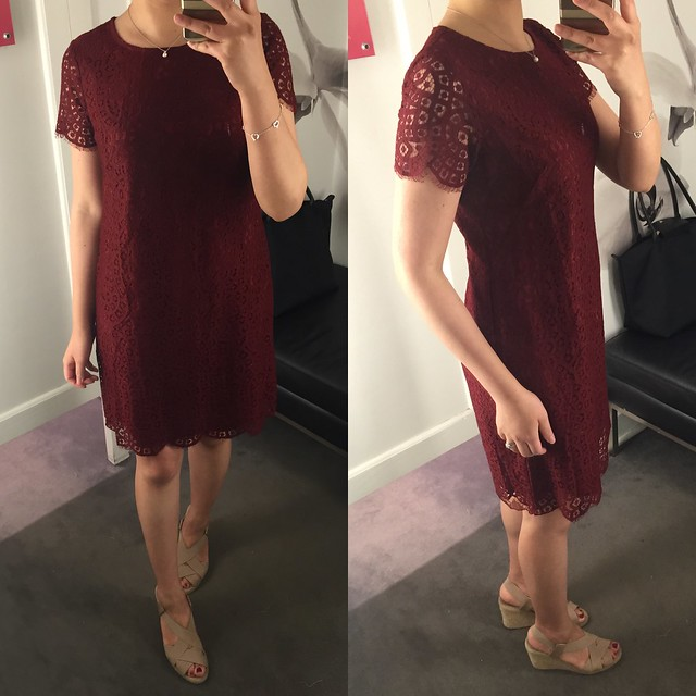 Ann Taylor Lace Shift Dress, size 0P