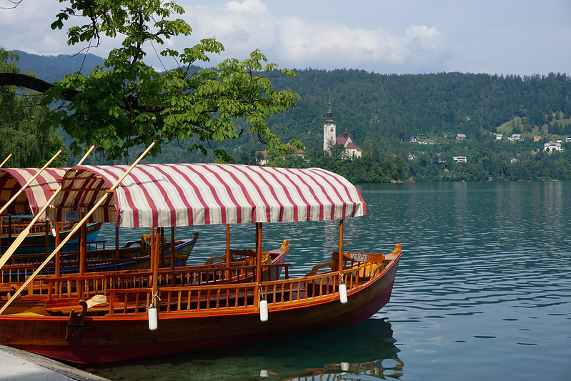 boats in Lake Bled