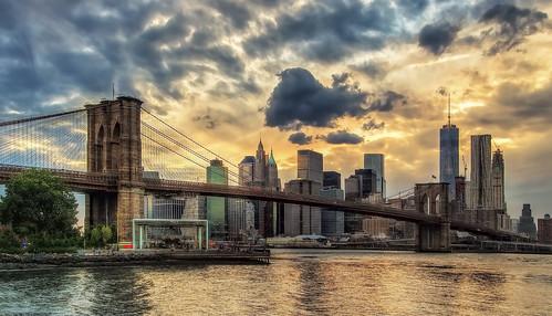 park nyc bridge sky brooklyn manhattan lower