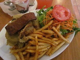 Oklahoma Bacon Cheeseburger and Fries from Native Foods Cafe