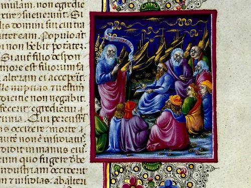 012-Bibbia di Borso d'Este-Vol 1- Hoja 71 detalle- Biblioteca Estense de Módena